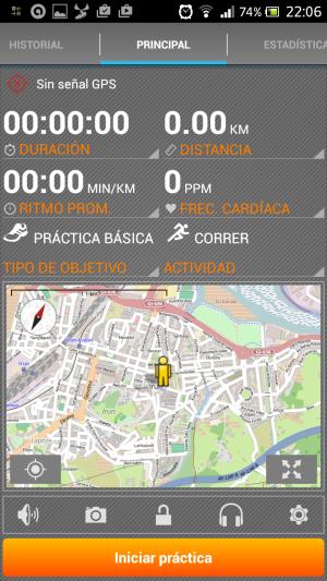Configurar MoveOn Sports Tracker app